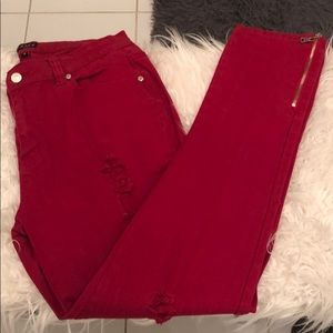 Red Hot Topic Jeans